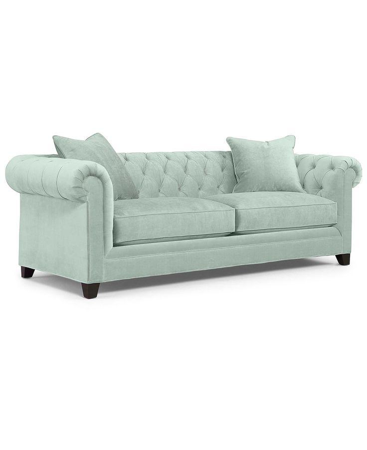 Martha stewart collection saybridge fabric sofa custom for Martha stewart furniture