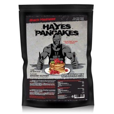 Black Madness Hayes Pancake 1 kg är pannkakorna du kan äta under dieten och inte va orolig att få i dig de extra onödiga kalorierna. Med en otroligt saftig och krispig smak som även har äkta frukt och bär med en touch av vanilj, så är dessa pannkakor för bra för att vara sanna!