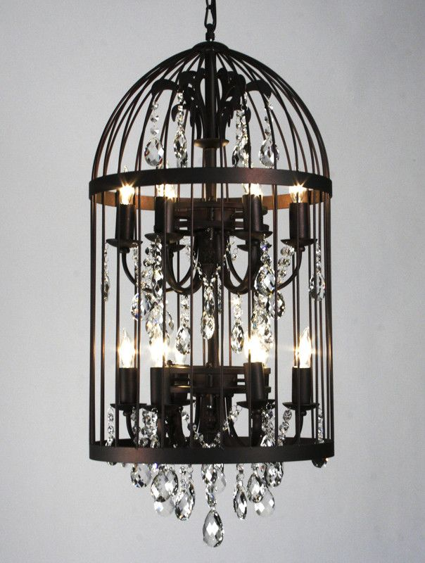 "Features:  Chandelier Type: -Crystal chandelier.  Finish: -Antique brown.  Number of Lights: -12. Dimensions:  Overall Product Weight: -20 lbs.  Fixture Height - Top to Bottom: -26"".  Fixture Width -"