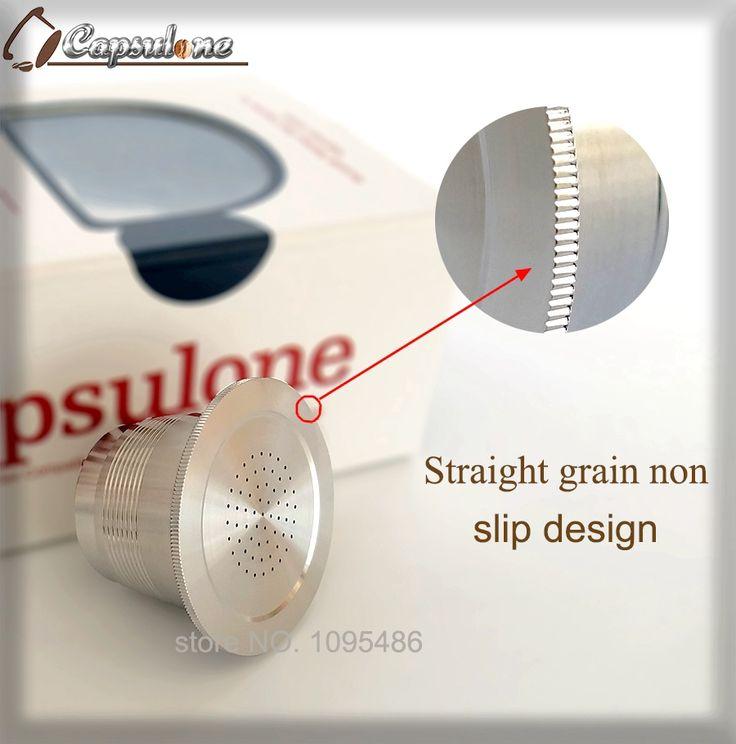 sales prices steel metal nespresso machine compatible capsule refillable