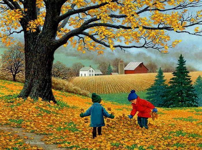 John Sloane-約翰·斯隆-美國畫家,他的精美作品表現了對四季變化.大自然的崇拜, 和享受鄉村生活, 老農場和農村的風景畫(第二輯)。。。 - ☆平平.淡淡.也是真☆  - ☆☆milk 平平。淡淡。也是真 ☆☆