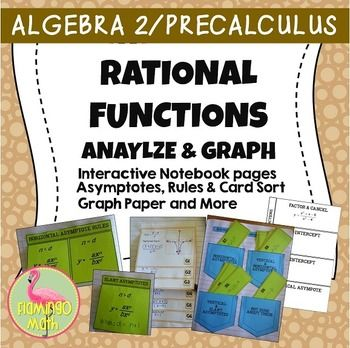 This is an activity with 18 task cards meant for Polynomial and Rational Functions in PreCalculus. First, studernts work through an assigned rational function on the Four-Tab Notebook Foldable , inspired by the work of Dinah Zike, and used with permission.