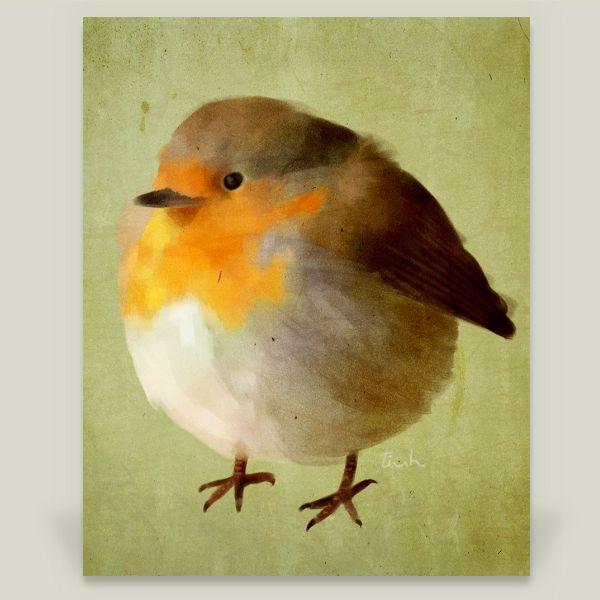 chubby bird Art Print by tiuh on BoomBoomPrints