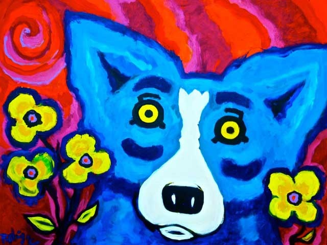 George Rodrigue's Blue Dog - lol - recognize him - he's the funny dog you see in pictures in my house :)