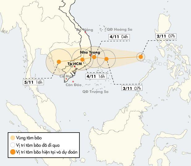 Bao so 12 nham vao Khanh Hoa - Ninh Thuan, suc gio 130 km/h hinh anh 1