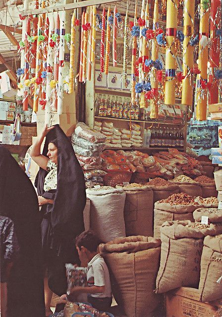 Alshorga-Baghda-Iraq 1980  the femous market of old Baghdad  Photographer :- Haleem Alkhatat