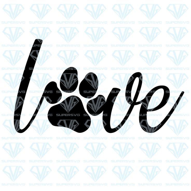 Download Love Paw Print SVG Files For Silhouette, Files For Cricut ...