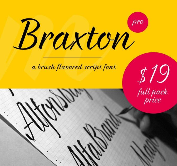 Braxton: A brush flavored script font - only $19! - MightyDeals