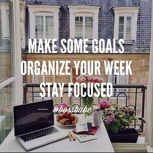Start the week with a goal, a plan and let me help You achieve it. Say NO to the 9-5 and become a boss babe with me! Click to find out more