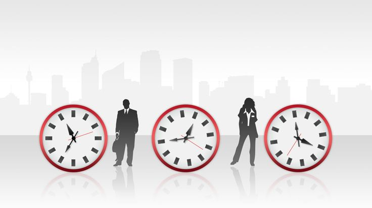 Free Widescreen Time Management Clock Template For Powerpoint Is A