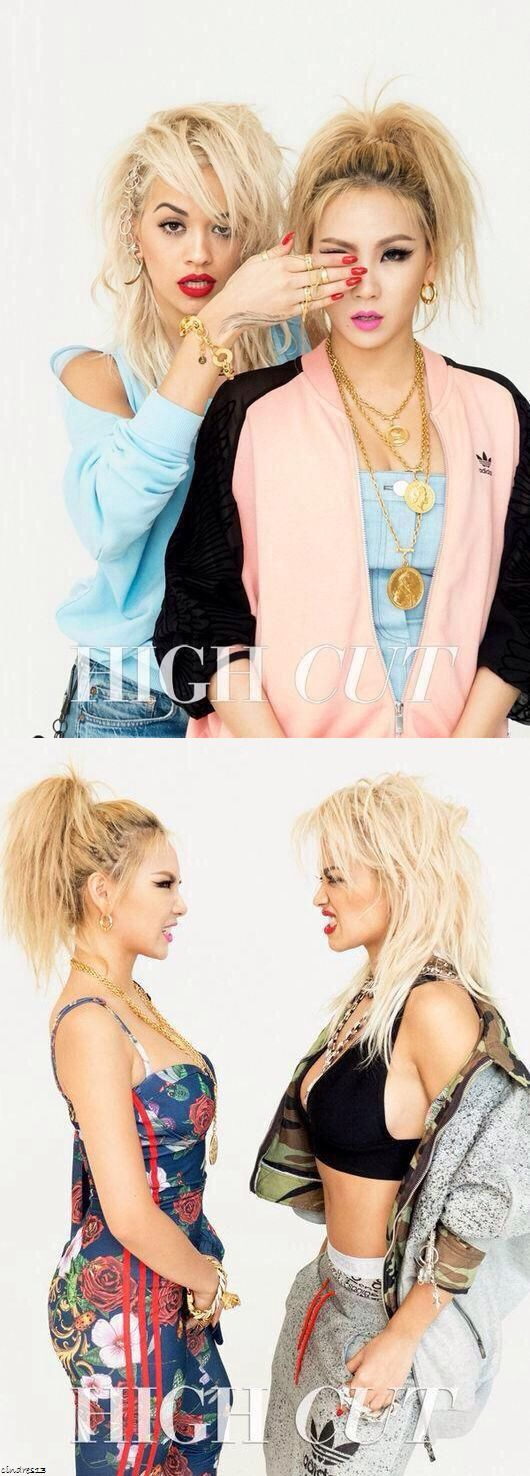 2NE1 CL & Rita Ora for High Cut Magazine November Issue- these to look so good together. Sense Cl is making her American Debut soon so I hope these to will make a collaboration together!