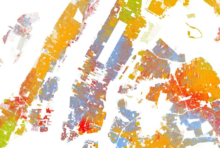 Racial Dot Map: One Dot Per Person for the Entire United States and the map shows the racial make-up of the USA. The information is taken from 2010 US Census. See the whole USA here: http://demographics.coopercenter.org/DotMap/index.html