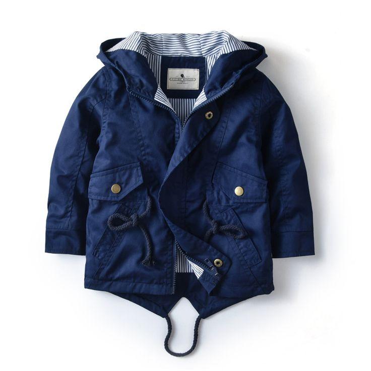 Весенне осенняя куртка для маленьких мальчиков и девочек 2 ...