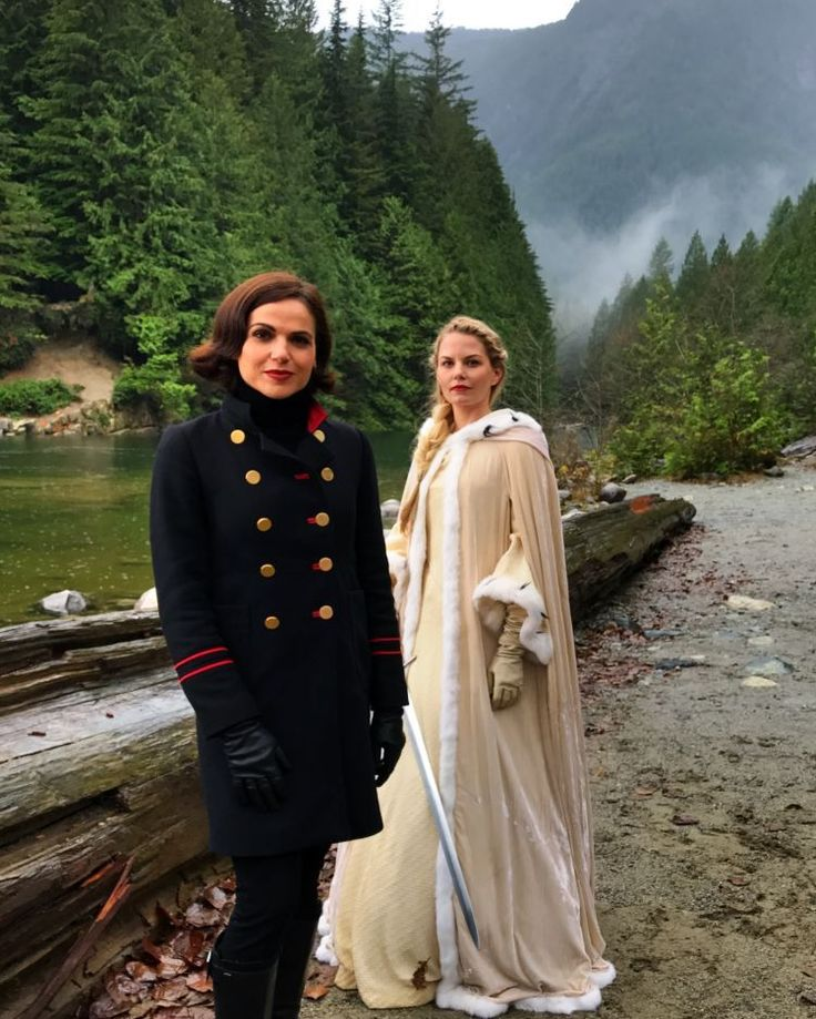 "- Lana Parrilla (@lparrilla) on Instagram: ""Will Regina and Emma make it back to Storybrooke?!!! Tune in tomorrow to find out when…"""