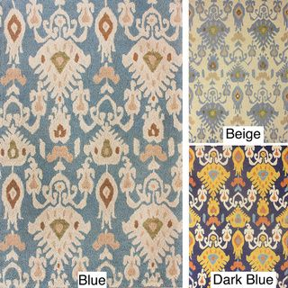 nuLOOM Handmade Ikat Wool Rug (5' x 8') | Overstock.com Shopping - Great Deals on Nuloom 5x8 - 6x9 Rugs