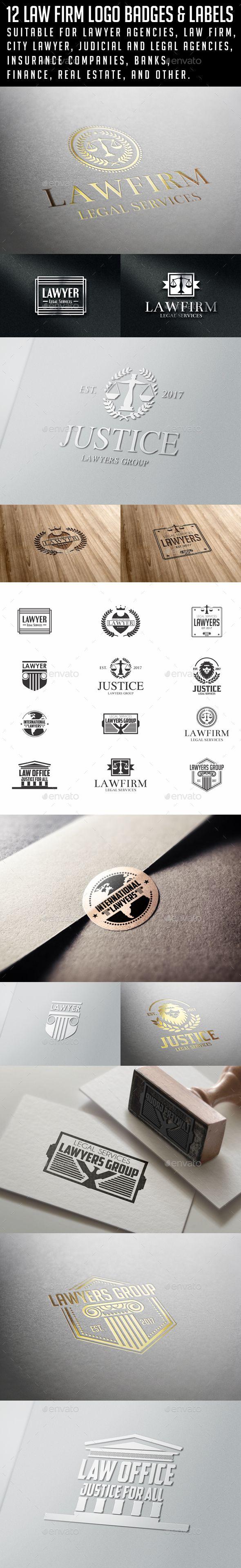 Law Firm Logo Badges Templates Vector EPS, AI Illustrator