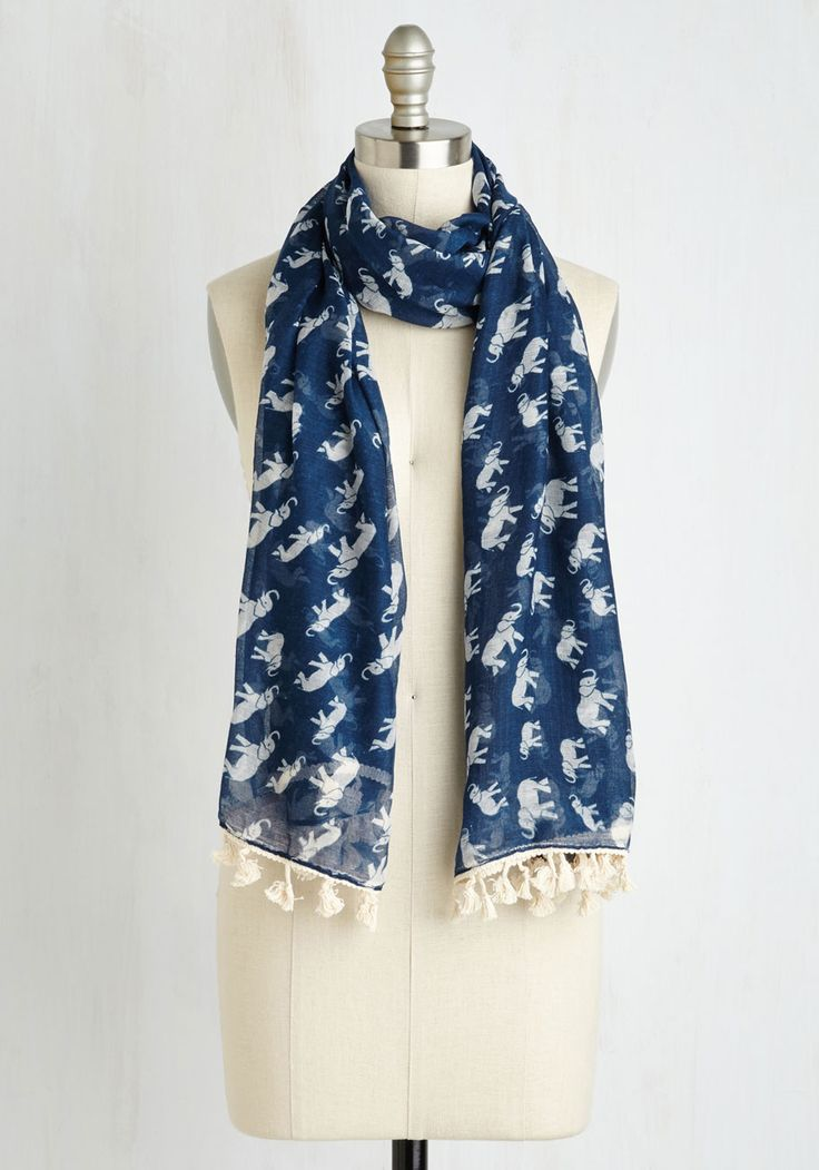 Herds with Friends Scarf. Rally your memory of pals for a fun game night clad in this navy blue scarf!  #modcloth