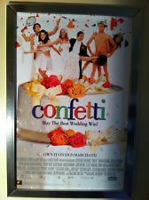 Confetti Movie Poster 27x40 Used Jimmy Jerman, Mark Heap, Robert Webb, David Mitchell, John Brown, Sarah Hadland, Ron Cook, Stephen Mangan, Selina Cadell, John Turnbull, Jimmy Carr, Helen Ryan, Vincent Franklin, Felicity Montagu, Nickolas Grace