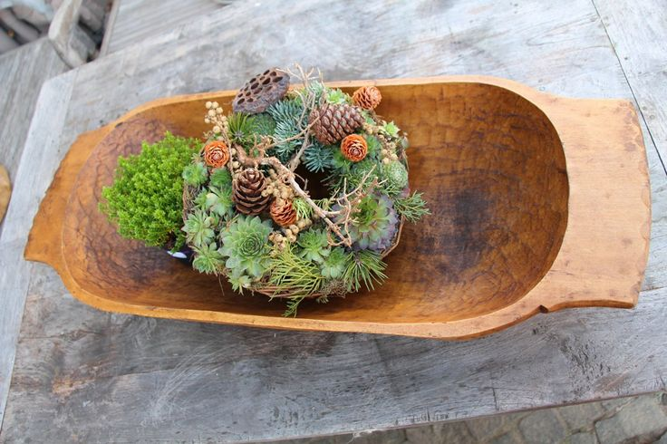 Nr. A494:  antique handcarved WOODEN DOUGH BOWL;  cottonwood; christmas decoration by grainsack on Etsy