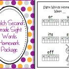 Turn these pages into a simple homework package for your students so they can learn the Dolch Grade Two words at home.    Want all 5 Dolch homework p...