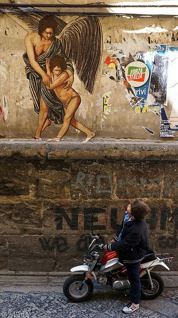 The Guardian Angel, Zilda, Naples. street art 000