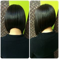 Sleek bob hairstyle - my hair only looks this perfect for a few hours after leaving the hairdresser's.