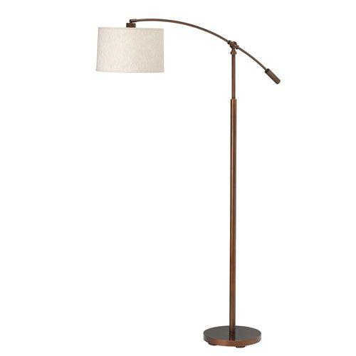 favorite cantilever burnish copper bronze onelight floor lamp bellacorcom