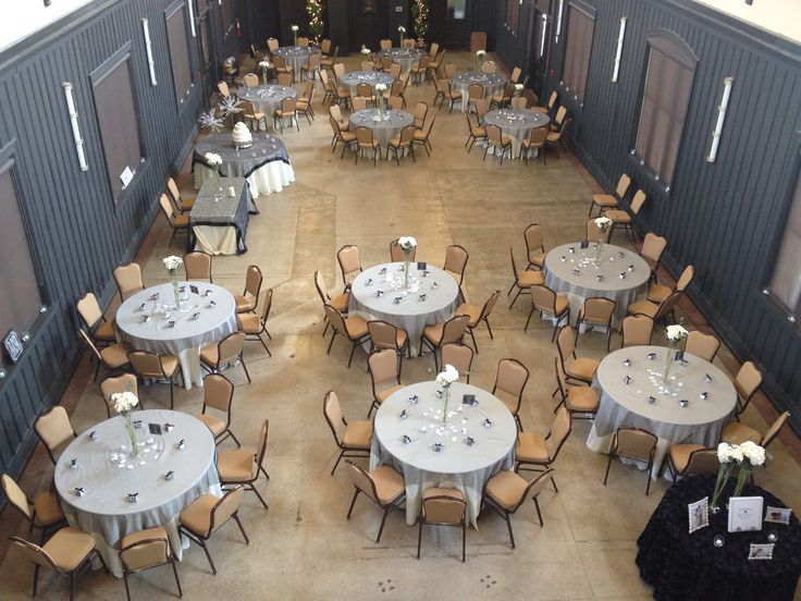 Wedding Reception In A Historic Venue Black And Ivory Colors Bristol Train Station