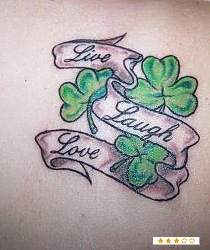 I want to get a tattoo with Shamrocks for a memorial tattoo for my grandma..