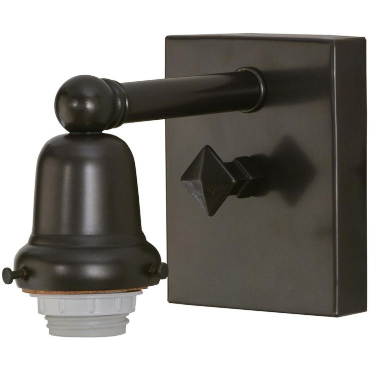 4 Inch W Craftsman Brown On Brass 1 Lt Wall Sconce Hardware - Custom Made