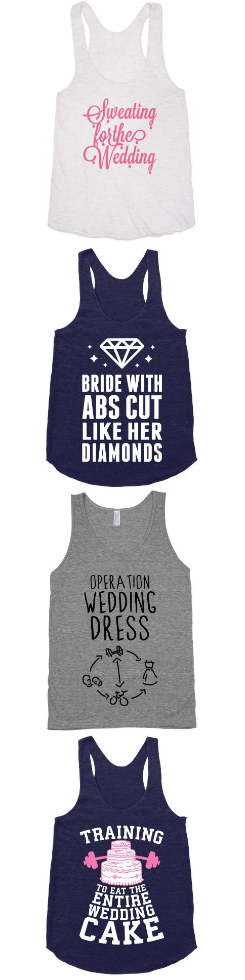 It's time to start sweating for the wedding.