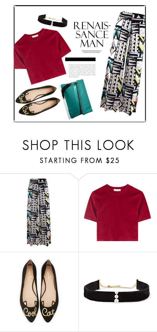 """""""Zapatos de gato"""" by fabfabiana ❤ liked on Polyvore featuring Kate Spade and Anissa Kermiche"""