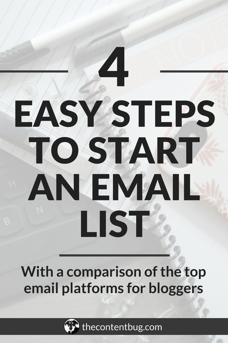 How to Start an Email List | TheContentBug | Email marketing