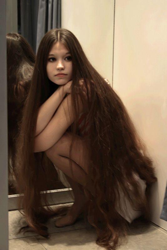 .beautiful long hair