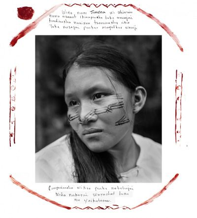 """*  """"My name is Jimena. As a Shiwiar woman, I love my country. To my nature, I love my animals, my monkey, my fish, my rivers, air that gives us life. For this reason, we do not want to exploit the oil in our territory."""" By Felipe Jacome"""
