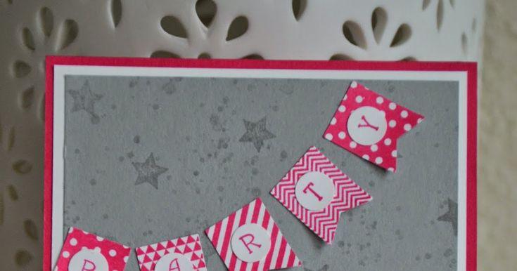 """Stampin' Up!, Kindergeburtstag, Einladungskarte Kindergeburtstag, Kindergeburtstag Mädchen, Muffinstecker, Kuchengirlande, Stanze 3/4"""" Kreis, Stanze 1"""" Kreis, Stanze 1 3/8"""" Kreis, Stanze 1 3/4"""" Kreis, Eulenstanze, Stanzenpaket, Winterminis, ABC-123Outline Alphabet & Numbers, Fähnchenstanze, Prägeform Punkteregen, Designerpapier im Set Signalfarben, Stempelset Gorgeous Grunge, Stempelset im Fähnchenfieber, Stanze 2 1/2"""""""