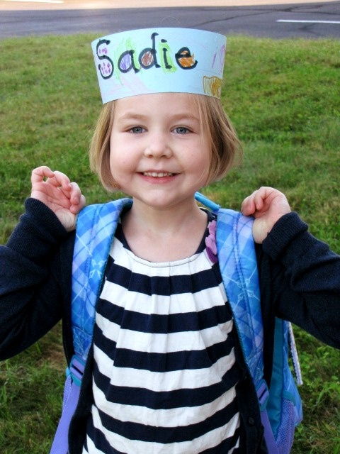 Name hats for first day of school