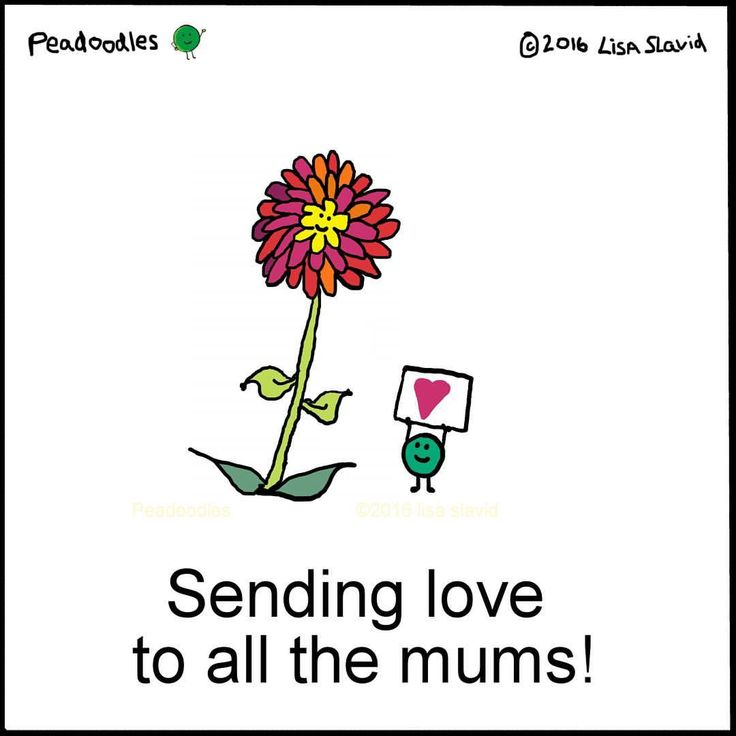 It's Mother's Day in the U.K.! Sending love to all the mums out there! #peadoodles #pun #punny #mum #mothersday #mom #moms #love #diversemoms #nurturers #happymothersday #flowers #uk