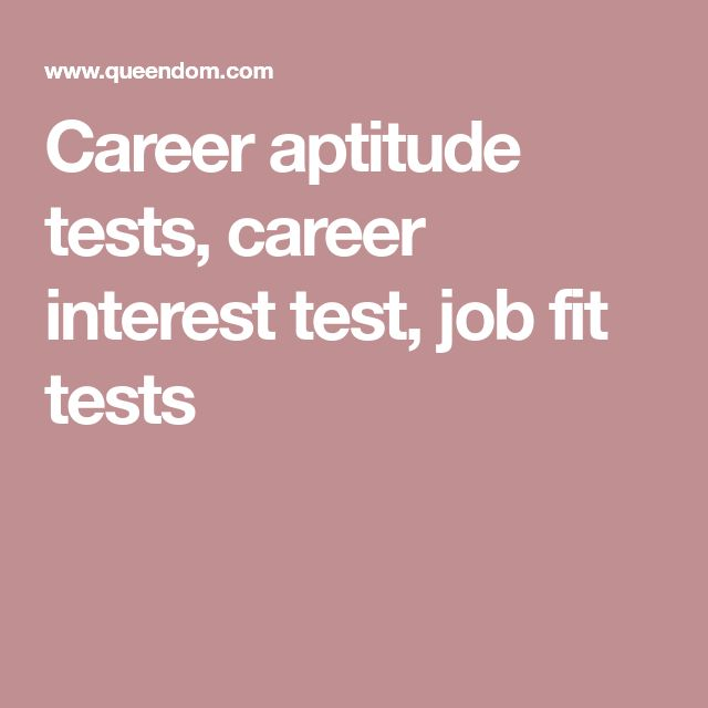 Career Aptitude Tests, Career Interest Test, Job Fit Tests  Career Aptitude Test