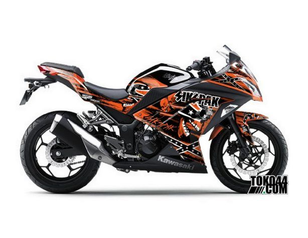 Decal Sticker Modifikasi Kawasaki Ninja 250 Fi ABS SE (Special Edition) Orange - Sikspak Hellbound Orange