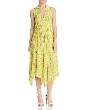 BOUTIQUE MOSCHINO LEMON-PRINT SILK WRAP DRESS. #boutiquemoschino #cloth #