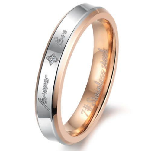 "Women - Size 6 - KONOV Jewelry Fashion Stainless Steel ""Forever Love"" Couples Promise Ring Mens Womens Wedding Bands KONOV Jewelry http://www.amazon.com/dp/B00GRV3KG2/ref=cm_sw_r_pi_dp_N1p4ub1Y908KM"