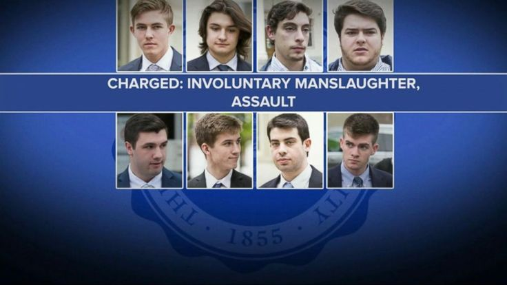 Transcript for  Pretrial hearing for Penn State frat brothers charged with involuntary manslaughter and assault  Now to the case getting a lot of attention nationwide. Members of a Penn state fraternity accused of playing a role in the tragic death of a sophomore. A potentially key piece of... - #Brothers, #Charged, #Frat, #Hearing, #Penn, #Pretrial, #State, #TopStories