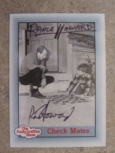 Ron Howard Rance Howard Autograph Andy Griffith Show Opie Taylor Tags | eBay