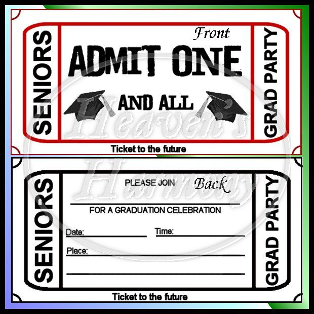 graduation party invitations graduation party ticket style
