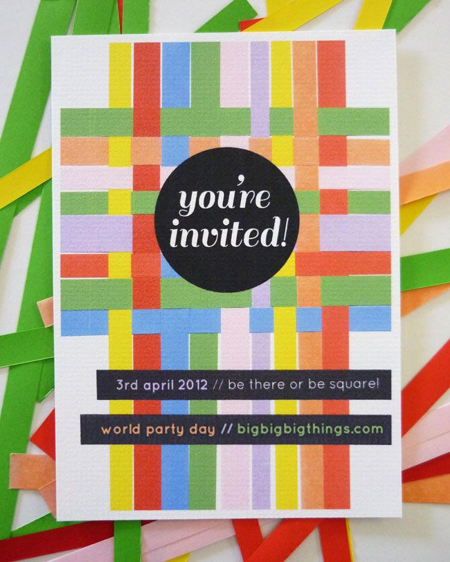 DIY invites for World Party Day, made by @pikaland!