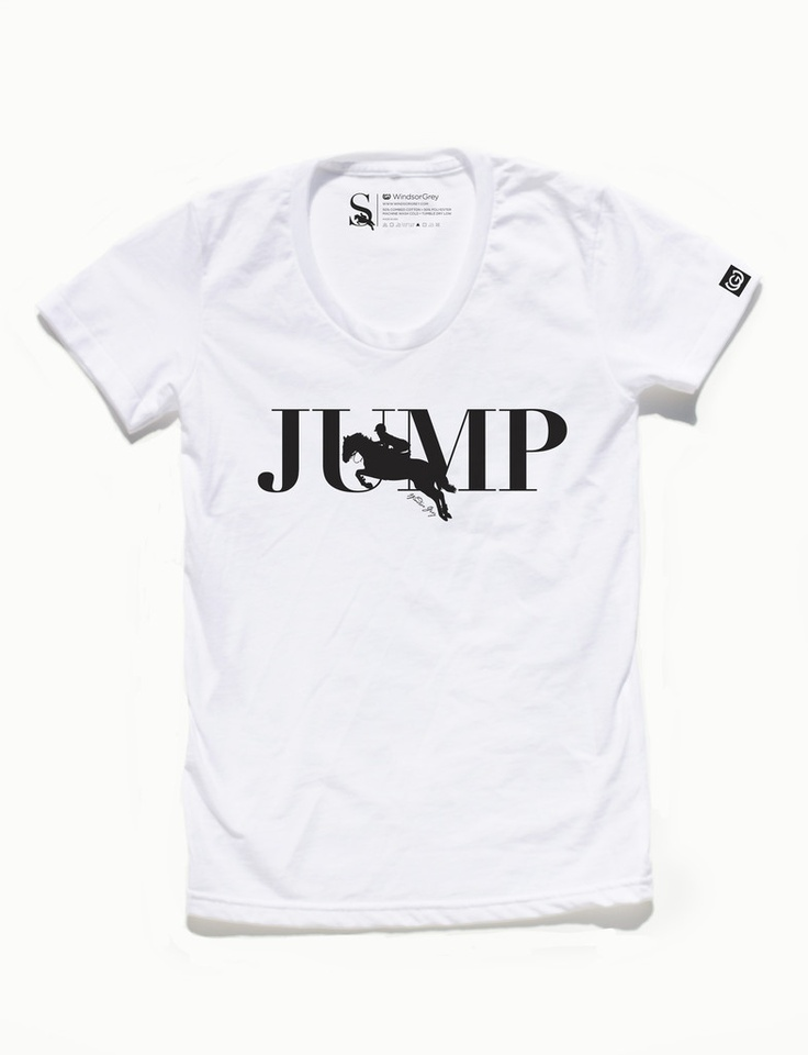 Do you have a friend who likes to JUMP? Bet  they would like one of these Windsor Grey tees under the tree!