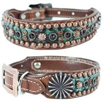 Kota Turquoise Western Leather Dog Collar - Tap the pin for the most adorable pawtastic fur baby apparel! You'll love the dog clothes and cat clothes! <3