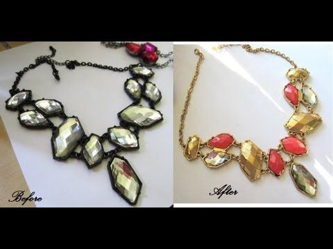 D.I.Y. Makeover your Jewelry w/ Spray paint & nail polish
