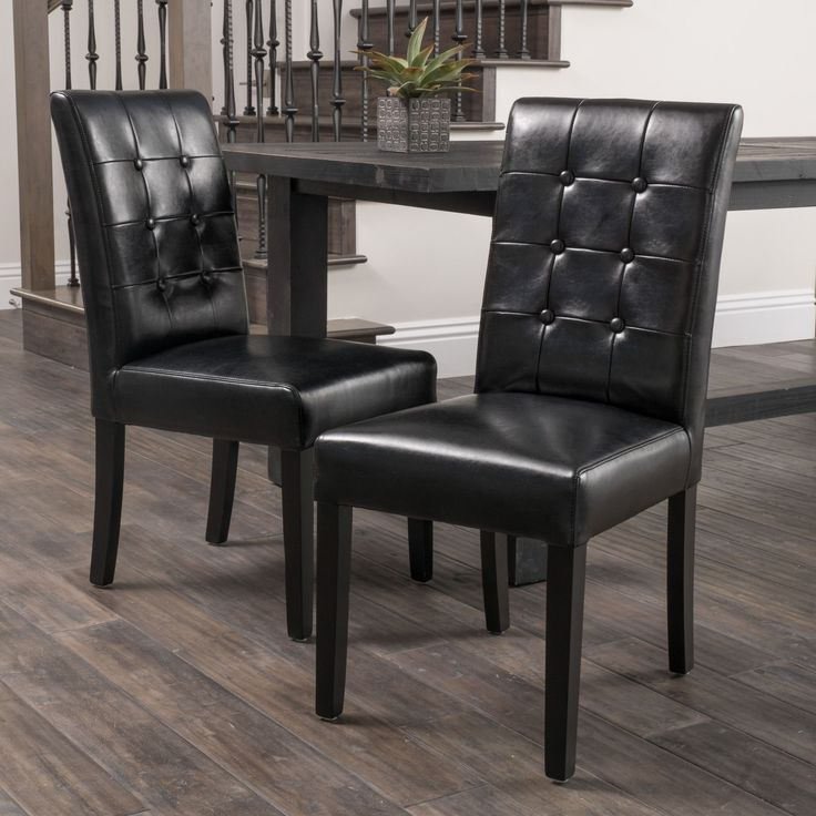 Best 25 Black Leather Dining Chairs Ideas On Pinterest  Black Prepossessing Green Leather Dining Room Chairs Inspiration